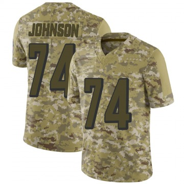 Youth Fred Johnson Cincinnati Bengals Limited Camo 2018 Salute to Service Jersey